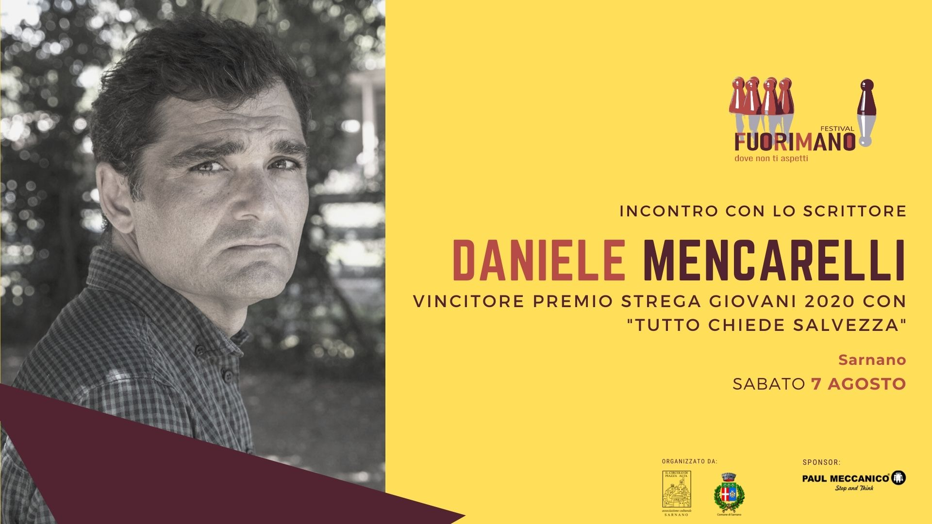 Daniele Mencarelli - FuoriMano Sarnano
